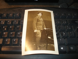 CARTE PHOTO CHASSEUR ALPIN  FRANCAIS PRISONNIER DE GUERRE 1914 1918 N°2 - Weltkrieg 1914-18