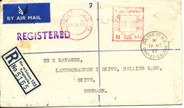 Tanganyika Registered Bank Cover Sent To Denmark Dar Es Salaam 19-11-1963 - Kenya, Ouganda & Tanzanie