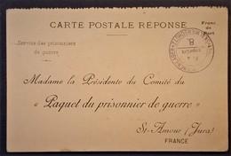 Carte De Franchise Militaire COMITE DU PAQUET DU PRISONNIER DE GUERRE De SAINT-AMOUR Envoi De COLIS - Storia Postale