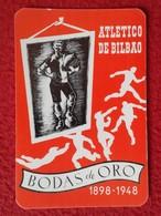 SPAIN CALENDARIO DE BOLSILLO CALENDAR ATHLETIC ATLÉTICO DE BILBAO VIZCAYA PAÍS VASCO EUSKADI BODAS ORO FÚTBOL FOOTBALL - Calendarios