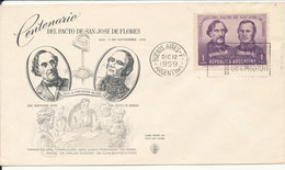 Argentina FDC 12-12-1959 Centenary Of The Pact Of San Jose De Flores With Cachet - FDC