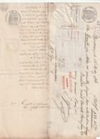 LETTRE ET TRAITE - 1861 Et Timbres Fiscaux  35 Et 25 Cts - Marcophilie (Lettres)