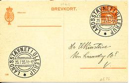 Denmark Lettercard Landsstävnet I Ollerup 25-7-1935 - 1913-47 (Christian X)