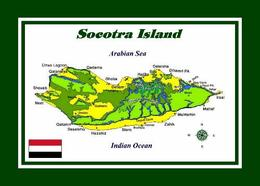 Yemen Socotra Island Map UNESCO New Postcard - Jemen