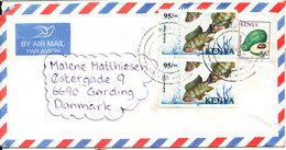 Kenya Air Mail Cover Sent To Denmark 2006 Topic Stamps - Kenya (1963-...)
