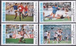 Elfenbeinküste, 1990, 1014/17, Fußball-Weltmeisterschaft 1990.  MNH **, - Côte D'Ivoire (1960-...)