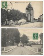 TRANNES Eglise ET Pont Par JESSAINS Bar Sur AUBE Dienville Brienne Le Château Chavanges Vendeuvre Barse Troyes Seine ... - Autres Communes