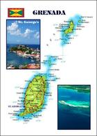 Grenanda Map New Postcard - Grenada