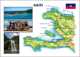 Haiti Country Map New Postcard - Haiti