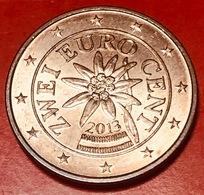 AUSTRIA - 2013 - Moneta - Stella Alpina - Euro - 0.02 - Austria