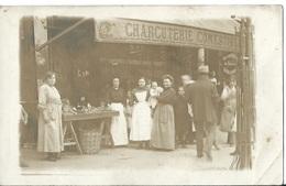 CPA PHOTO CHARCUTERIE COMESTIBLES Conserves A Sardines AMIEUX Frères - Marchands