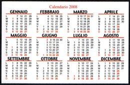 ITALIA 2008 - CALENDARIO TASCABILE - DAL 1860 OSTERIA BARALLA - LUCCA - Calendari