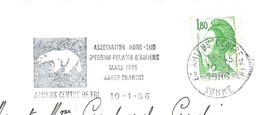 OMEC SECAP Avec Flamme Thème Ours Blanc - Année Charcot - 3ème Forum Polaire D'Amiens 1986 - Events & Commemorations