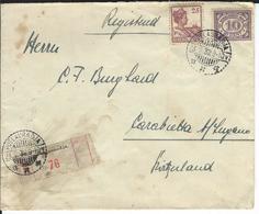 Niederländisch Indien NVPH 114, 124, Mi 120, 142  R-Brief Poelauradja 23.2.32 Nach Lugano CH - Indes Néerlandaises