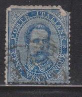 ITALY Scott # 48 Used - Top Right Corner Missing - 1861-78 Vittorio Emanuele II