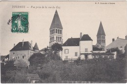 F71-042 TOURNUS - VUE PRISE DE LA RUE DU GAZ - Francia