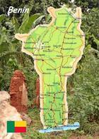 Benin Country Map New Postcard Landkarte AK - Benin