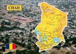 Chad Country Map New Postcard Tschad Landkarte AK - Tschad