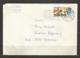 EINZELFRANKATUR  DDR   -   Traveled  Cover  To  BULGARIA   - D 3539 - [6] République Démocratique