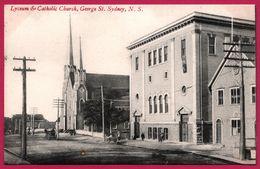 Sydney - Lyceum And Catholic Church - George St. Sydney - Animée - N.S. - Sydney