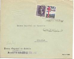 Carta De Cazalla A Córdoba Con Sellos Isabel Y Pro Tuberculosos, Al Dorso Sellos Locales - 1931-Hoy: 2ª República - ... Juan Carlos I