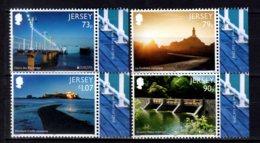 2018 Jersey -Europa CEPT Briges - Complet Set Of 4 Values + - MNH** MiNr. 2197 - 2200 Lighthouses, Sea Peer, Castle - Leuchttürme
