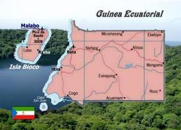 Equatorial Guinea Map New Postcard - Guinée Equatoriale