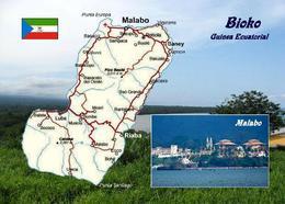 Equatorial Guinea Bioko Island Map New Postcard - Guinée Equatoriale