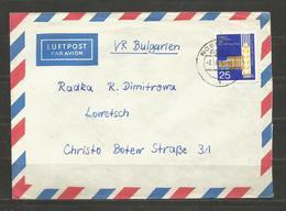 EINZELFRANKATUR  DDR   -   Traveled  Cover  To  BULGARIA   - D 3541 - [6] République Démocratique