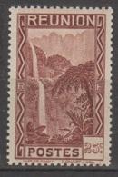 Reunion 1933 Cascade 25c YT 132 Neuf** - Réunion (1852-1975)