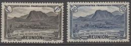 Reunion 1944 Piton D'anchain  Sans RF  60c Et 1f YT 247-48 Neuf * - Réunion (1852-1975)