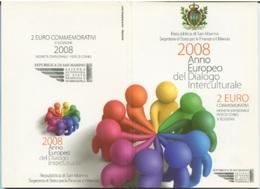 SAN MARINO - 2 EURO DIALOGO 2008 - San Marino