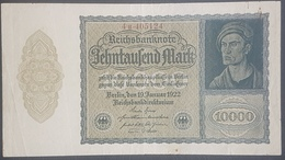 EBN12 - Germany 1922 Banknote 10000 Mark Pick 71 Smaller Size  #4h.405124 - [ 3] 1918-1933 : Weimar Republic