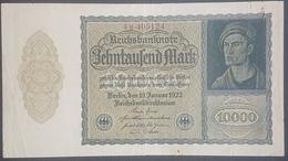 EBN12 - Germany 1922 Banknote 10000 Mark Pick 71 Smaller Size  #4h.405124 - [ 3] 1918-1933: Weimarrepubliek