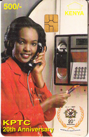 KENYA - Lady On Cardphone, KPTC First Chip Issue 500 KSHS(yellow Value), Chip GEM3.1, Exp.date 31/12/99, Used - Kenia