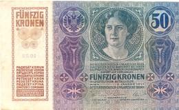 50 COURONNES AUSTRO-HONGROISES 1914 - Autriche