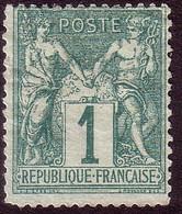 61 - 1c Vert Sage Type I ( - 1876-1878 Sage (Type I)
