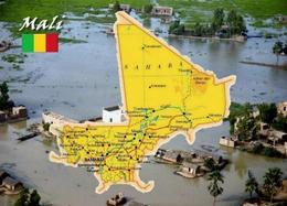 Mali Country Map New Postcard Landkarte AK - Mali