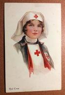 Antique Patriotic Postcard 1910s Artist  BRISLEY. Red Cross Woman - Sister Of Mercy - Illustrateurs & Photographes