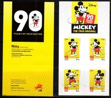 PORTUGAL, 2018, MNH, DISNEY, MICKEY MOUSE, BOOKLET - Disney