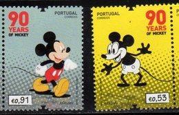 PORTUGAL, 2018, MNH, DISNEY, MICKEY MOUSE, 2v - Disney