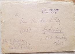 Germany CIC Post 1946 With A Letter - Germany