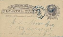 1887 , ESTADOS UNIDOS , ENTERO POSTAL CIRCULADO , NORTH BRIDGTON - NEW YORK , LLEGADA - ...-1900