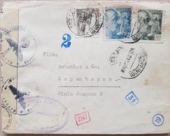 Spain Denmark 1942 Censored - Spain