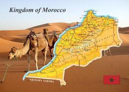 Morocco Map New Postcard - Sonstige