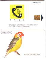 "TANZANIA(chip) - Fischer""s Lovebird(reverse A), Chip GEM3.1, Used - Tanzania"