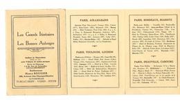 92 Levallois Perret Carnet Publicitaire De  4 Volets Les Grands Itineraires - Cartes