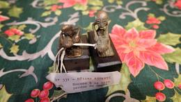 2 Statuettes Bronze  Betise Ashanti Ghana - Bronces