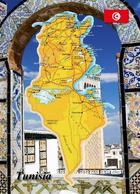 Tunisia Map New Postcard - Tunesien