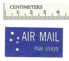 113-10 AIRMAIL Etiquette Label  10 Used Air Mail Par Avion - Cinderellas